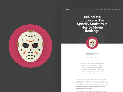 Spooky Stats article viget statistics spooky illustration icon