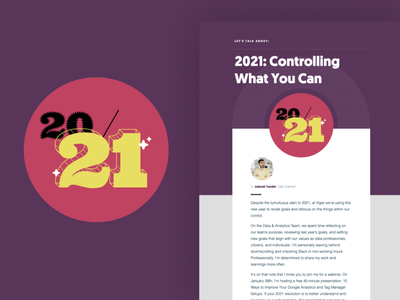 2021: Controlling What You Can newsletter viget illustration 2021