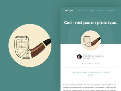 Blog Icon Illustration – Ceci n'est pas un prototype. illustration icon