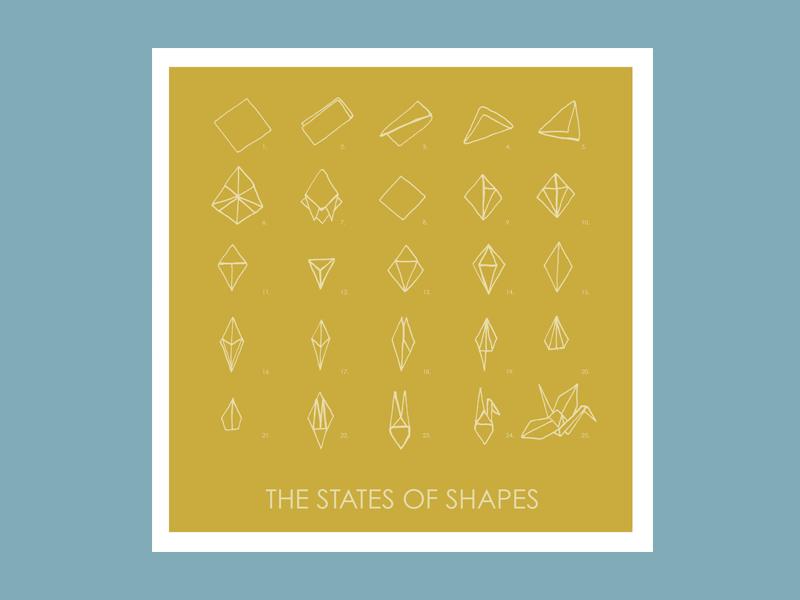 The States of Shapes music illustration cd album