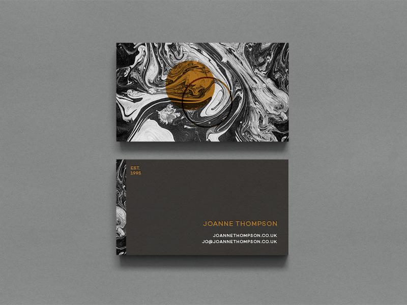 Alternate JT Branding Concept marbling logo marble business card branding