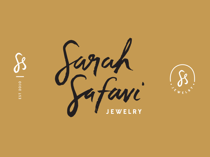 Sarah Safavi Branding s monogram hand drawn logomarks icons artifacts branding