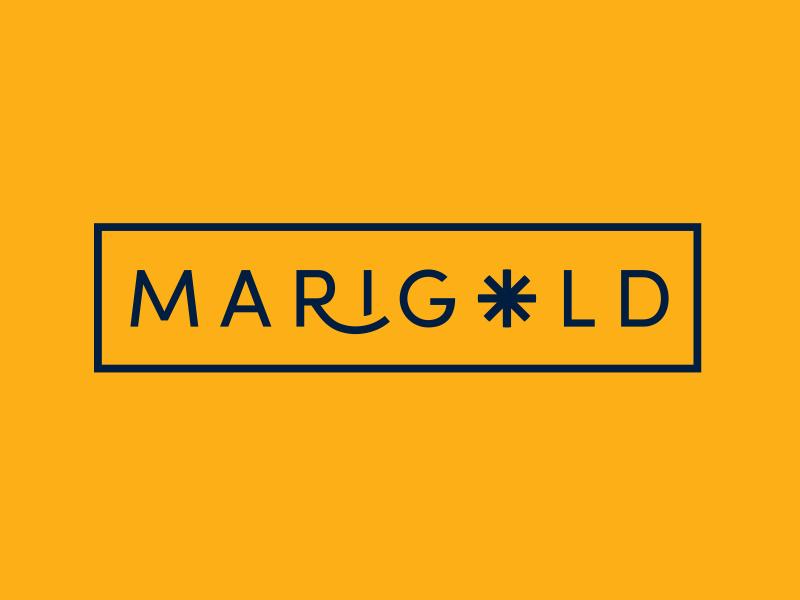 Marigold branding logotype logo