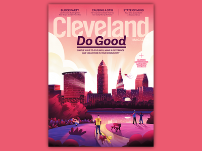 Cleveland Magazine editorial cover architectural illustration cleveland magazine magazine cover illustration editorial illustration architecture design magicmuir illustrator cody muir illustration