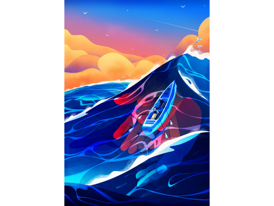 Parkylife conceptual conceptual illustration conceptual art hands waves water vector illustration magicmuir cody muir inspo inspiration vector illustrator design illustration