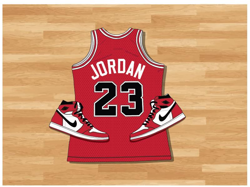 The GOAT sneaker basketball bulls aj1 nike illustartor nba jordan vector
