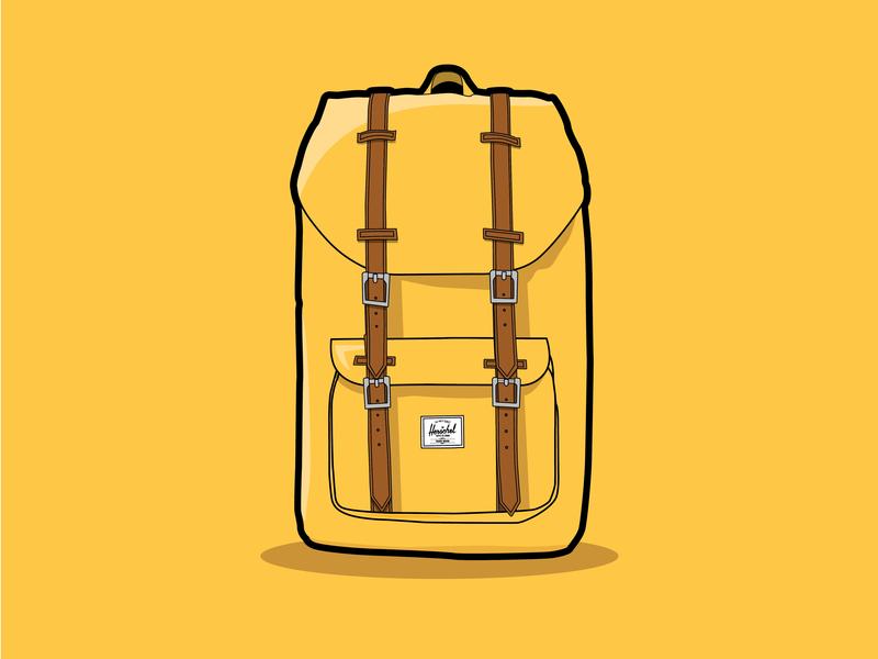 Herschel badge label design vector herschel backpack