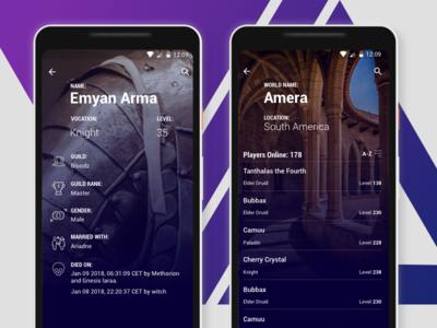 Tibia Concept App