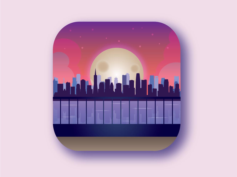 Cityscape illustration design vector illustration vector art flat vector artwork illustrator icon app logo vector