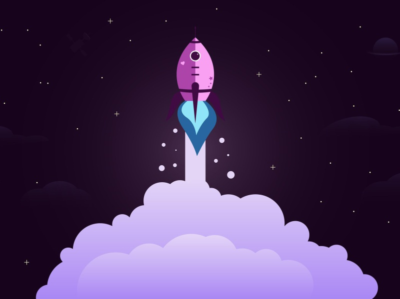 Into Space vector art vector illustration illustrator vector artwork design illustration vector
