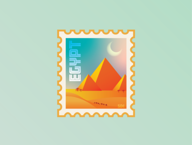 Destination Stamp: Egypt weekly challenge weekly warm-up flat vector illustration vector art vector artwork vector illustrator illustration design