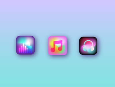 Day 2: Music App Icons design vector illustration web app icon ux mobile illustrator vector art vector ui