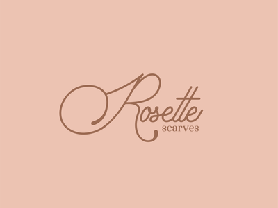 Rosette Scarves egypt scarves brand fashion typography logo concept graphic design