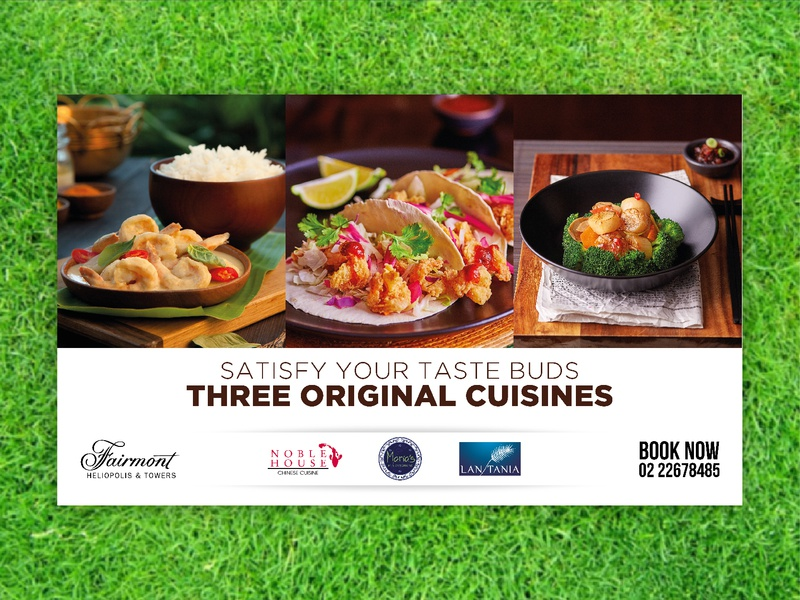 Fairmont outlets Billboard 2017 print fairmont hotel typography advertising concept layout cuisine photography food graphic  design graphic outdoor billboard