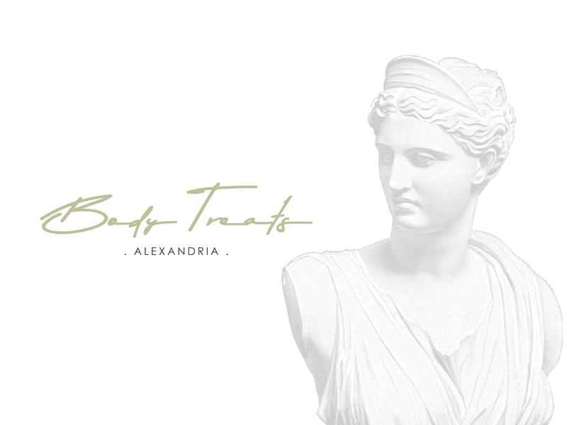 Body Treats Rebranding greek alexandria beauty product rebranding typography logo concept design graphic