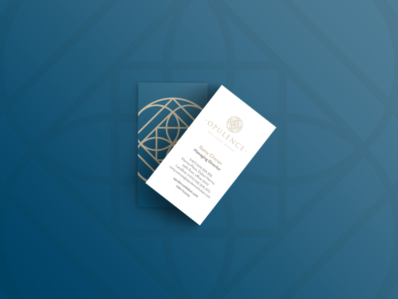 Opulence Business Card opulence brand luxury real estate business card design branding design layout concept design graphic