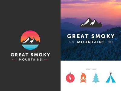 Great Smoky Mountains daily logo clean daily logo challenge dailylogochallenge adventure outdoors nature tennessee national parks national park mountains