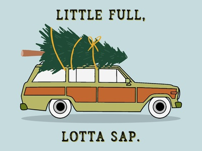 LOTTA sap in here! vacation christmas vacation christmas tree minimal illustration merry christmas merry xmas christmas griswolds