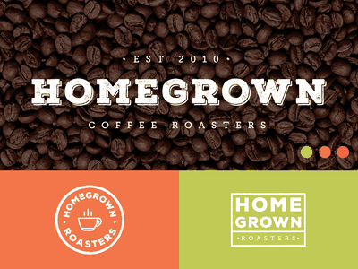 Homegrown Coffee Roasters local cafe roasters coffee homegrown daily nashville minimal logotype clean flat simple logo branding