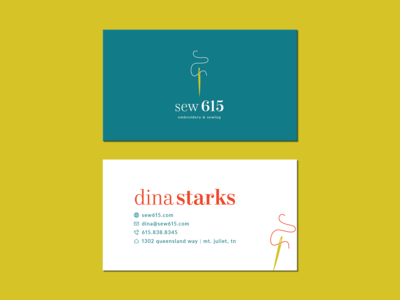 Sew 615 Business Card - Unused