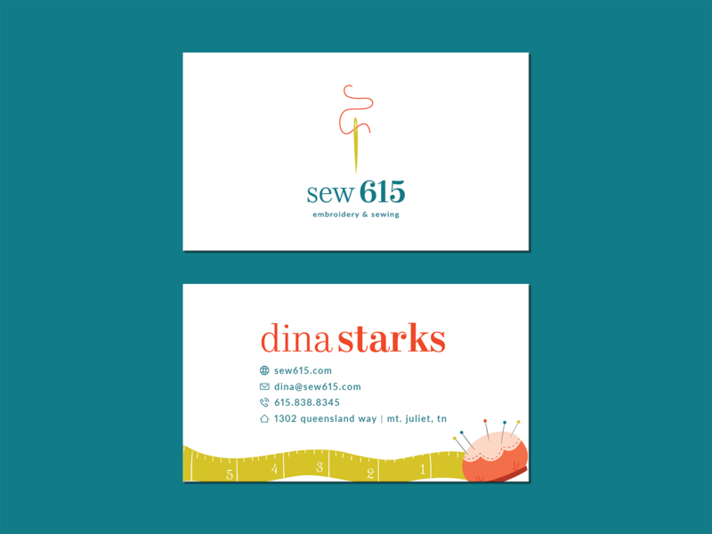 Sew 615 Business Card Unused By Alyson Starks Dribbble Dribbble