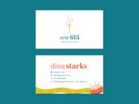 Sew 615 Business Card - Unused