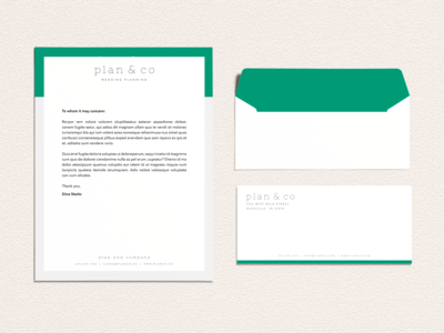 Plan & Co Stationery