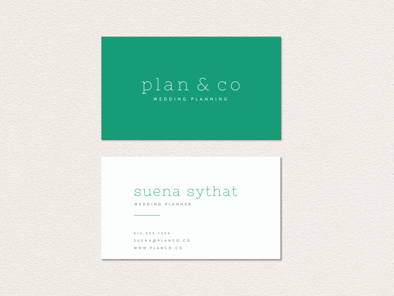 Plan Co Business Cards By Alyson Starks Dribbble Dribbble