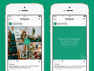 Plan & Co Instagram Templates