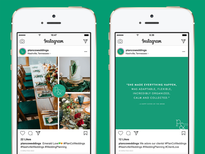 Plan & Co Instagram Templates by Alyson Starks on Dribbble