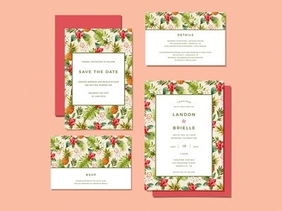 Wedding Invitations - Tropical Vaca!