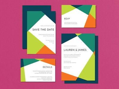 Wedding Invitations - Geometric Modern