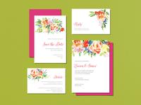 Wedding Invitiations - Watercolor Floral