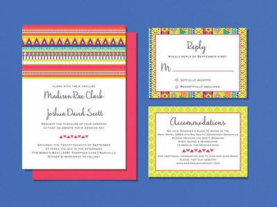 Wedding Invitations - Mix & Match Geometric Patterns