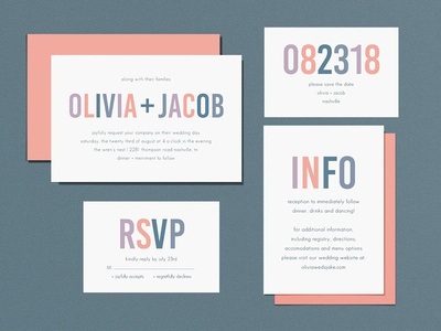 Wedding Invites - Simple Bold Type