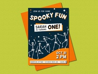 Halloween Invitations - Sarah Sanderson is One!