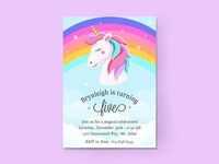 My Niece is a Magical Rainbow Unicorn! - Party Invitations