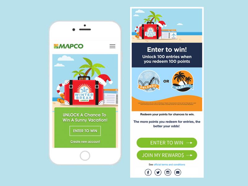 MAPCO Winter Break Sweepstakes winter web header vacation sweepstakes simple hero image header graphic giveaway digital graphic digital