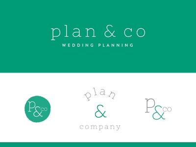 Plan & Co | Wedding Planning event planner event planner wedding planner wedding nashville design logotype clean simple logo branding