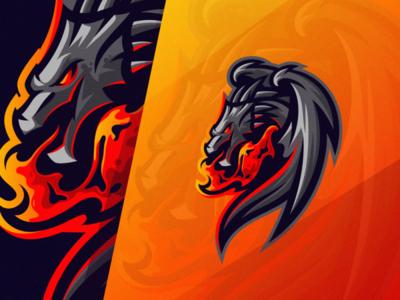 Dragon shield esports angry e-sport esport sport mascot character brand dragon logo