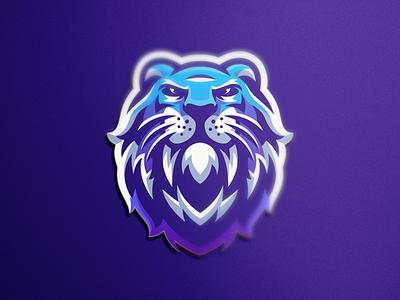 tiger e-sports shield esports e-sport esport sport mascot character tiger brand logo
