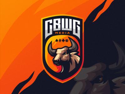 CBWG media gaming e-sports shield esports e-sport esport sport character brand logo