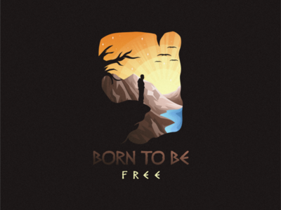 BORN TO BE FREE ui branding illustration e-sport esport sport mascot character brand logo