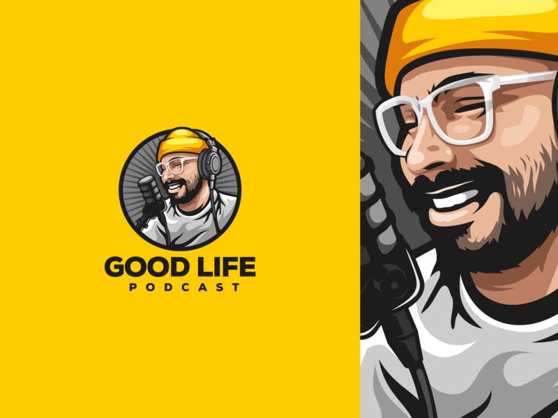 Good Life Podcast branding ui illustration e-sport esport sport mascot character brand logo