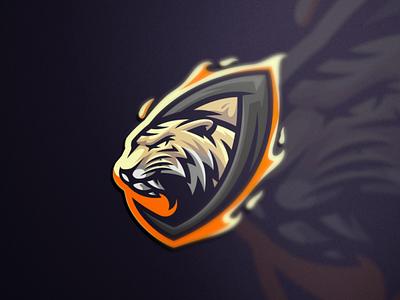 TIGER shield esports angry e-sport esport sport mascot character brand logo