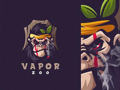 vapor zoo e-sports esports angry e-sport esport sport mascot character brand logo