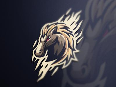 Horse esports angry e-sport esport sport mascot character horse logo esport horse logo horse brand logo