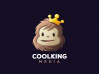 coolking media esports angry e-sport esport sport mascot character brand ape monkey logo