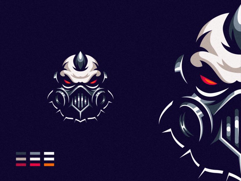 Skull Mask gaming e-sports shield esports angry e-sport esport sport mascot character brand logo