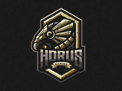 Horus Gaming shield esports angry e-sport sport mascot character brand esport gaming horus logo